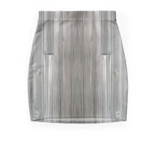 Gray Wood  Mini Skirt