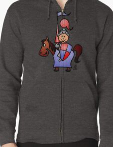 Medieval knight in shining armour Zipped Hoodie