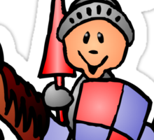 Medieval knight in shining armour Sticker