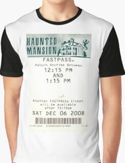 Haunted Mansion Fastpass Graphic T-Shirt