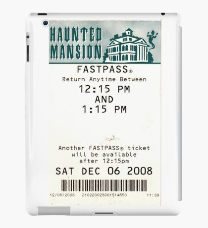 Haunted Mansion Fastpass iPad Case/Skin
