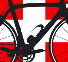 Bike Flag Switzerland (Big - Highlight) Sticker
