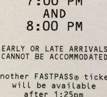 Hyperspace Mountain Fastpass Sticker