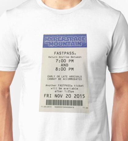 Hyperspace Mountain Fastpass Unisex T-Shirt