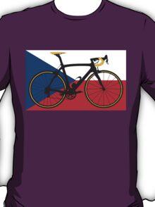 Bike Flag Czech Republic (Big - Highlight) T-Shirt