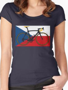 Bike Flag Czech Republic (Big - Highlight) Women's Fitted Scoop T-Shirt