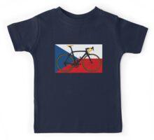Bike Flag Czech Republic (Big - Highlight) Kids Tee