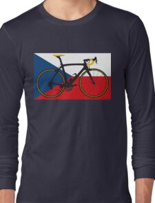 Bike Flag Czech Republic (Big - Highlight) Long Sleeve T-Shirt