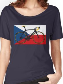Bike Flag Czech Republic (Big - Highlight) Women's Relaxed Fit T-Shirt