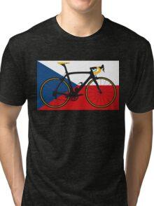Bike Flag Czech Republic (Big - Highlight) Tri-blend T-Shirt