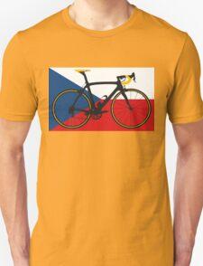 Bike Flag Czech Republic (Big - Highlight) Unisex T-Shirt