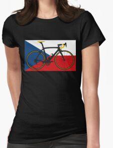 Bike Flag Czech Republic (Big - Highlight) Womens Fitted T-Shirt