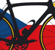 Bike Flag Czech Republic (Big - Highlight) Sticker