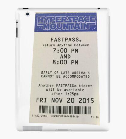 Hyperspace Mountain Fastpass iPad Case/Skin