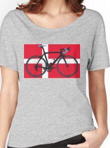 Bike Flag Denmark (Big - Highlight) Women's Relaxed Fit T-Shirt
