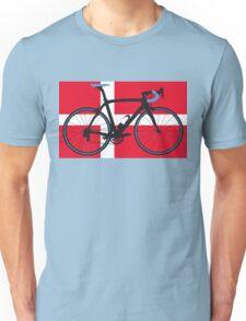 Bike Flag Denmark (Big - Highlight) Unisex T-Shirt