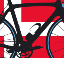 Bike Flag Denmark (Big - Highlight) Sticker