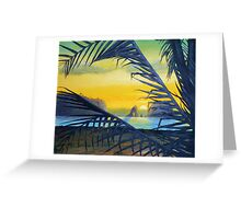 Sunset Over The Pacific (Ecuador) Greeting Card