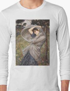 John William Waterhouse - Boreas . Woman portrait: sensual woman, girly art, female style, pretty women, femine, beautiful dress, cute, creativity, love, sexy lady, erotic pose Long Sleeve T-Shirt