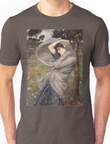 John William Waterhouse - Boreas . Woman portrait: sensual woman, girly art, female style, pretty women, femine, beautiful dress, cute, creativity, love, sexy lady, erotic pose Unisex T-Shirt