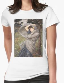 John William Waterhouse - Boreas . Woman portrait: sensual woman, girly art, female style, pretty women, femine, beautiful dress, cute, creativity, love, sexy lady, erotic pose Womens Fitted T-Shirt