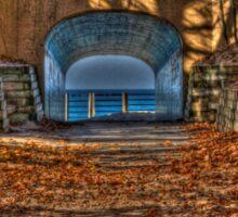 Tunnel Park in Autumn Sticker