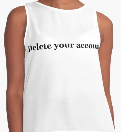 Delete Your Account Hillary Clinton Tweet Contrast Tank