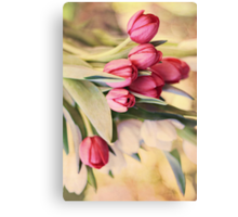 Vintage Tulips Canvas Print