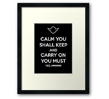 Yoda Star Wars Keep Calm and Carry On Framed Print