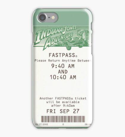 Indiana Jones Adventure Fastpass iPhone Case/Skin
