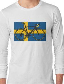 Bike Flag Sweden (Big - Highlight) Long Sleeve T-Shirt