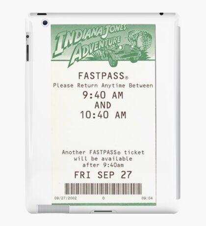 Indiana Jones Adventure Fastpass iPad Case/Skin
