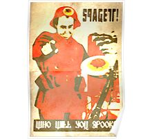 Spagett; Who will you spook? Poster