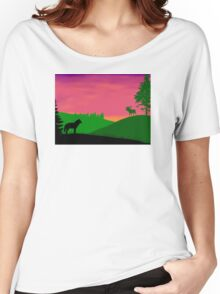 North America Scene Women's Relaxed Fit T-Shirt