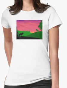 North America Scene Womens Fitted T-Shirt