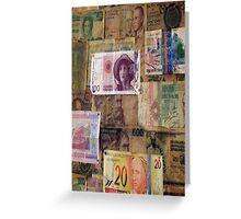Bank notes Greeting Card