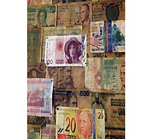 Bank notes Photographic Print