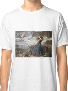 John William Waterhouse - Miranda - The Tempest  . Sea landscape: sea view, naval yachts, navy holiday, sailing boat, coast seaside, beach, marin, seascape, sun clouds, nautical panorama, ocean Classic T-Shirt