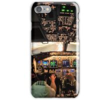 Night landing Amsterdam RWY 06 iPhone Case/Skin