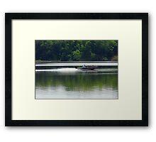 Speed Fishing Framed Print
