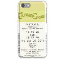 Jungle Cruise Fastpass iPhone Case/Skin