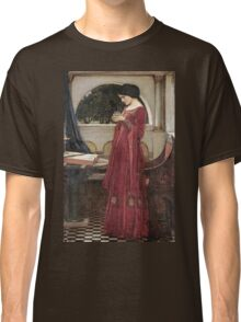 John William Waterhouse - The Crystal Ball . Woman portrait: sensual woman, girly art, female style, pretty women, femine, beautiful dress, cute, creativity, love, sexy lady, erotic pose Classic T-Shirt