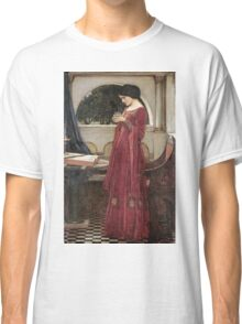 John William Waterhouse - The Crystal Ball . Woman portrait: sensual woman, girly art, female style, pretty women, femine, beautiful dress, cute, creativity, love, sexy lady, erotic pose Classic T-Shirt