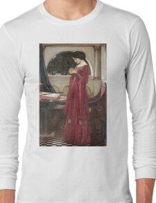 John William Waterhouse - The Crystal Ball . Woman portrait: sensual woman, girly art, female style, pretty women, femine, beautiful dress, cute, creativity, love, sexy lady, erotic pose Long Sleeve T-Shirt