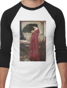 John William Waterhouse - The Crystal Ball . Woman portrait: sensual woman, girly art, female style, pretty women, femine, beautiful dress, cute, creativity, love, sexy lady, erotic pose Men's Baseball ¾ T-Shirt