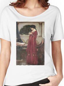 John William Waterhouse - The Crystal Ball . Woman portrait: sensual woman, girly art, female style, pretty women, femine, beautiful dress, cute, creativity, love, sexy lady, erotic pose Women's Relaxed Fit T-Shirt