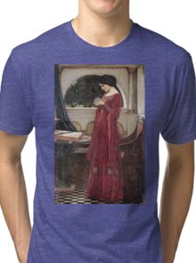 John William Waterhouse - The Crystal Ball . Woman portrait: sensual woman, girly art, female style, pretty women, femine, beautiful dress, cute, creativity, love, sexy lady, erotic pose Tri-blend T-Shirt