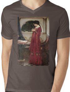 John William Waterhouse - The Crystal Ball . Woman portrait: sensual woman, girly art, female style, pretty women, femine, beautiful dress, cute, creativity, love, sexy lady, erotic pose Mens V-Neck T-Shirt