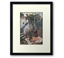 John William Waterhouse - The Orange Gatherers . Garden landscape: garden view, trees and flowers, blossom, nature, botanical park, floral flora, wonderful flowers, plants, cute plant, garden, flower Framed Print