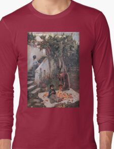 John William Waterhouse - The Orange Gatherers . Garden landscape: garden view, trees and flowers, blossom, nature, botanical park, floral flora, wonderful flowers, plants, cute plant, garden, flower Long Sleeve T-Shirt